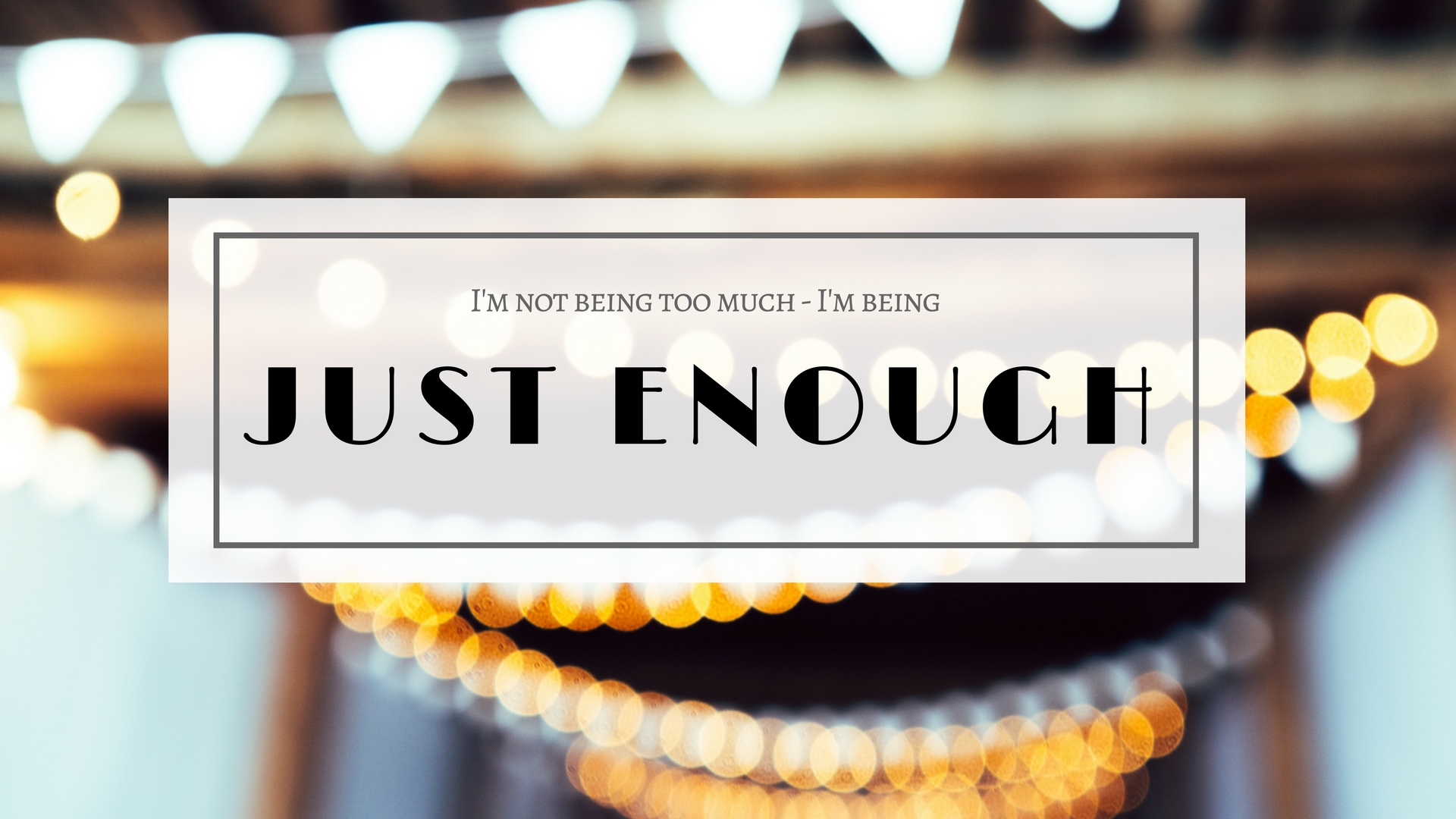 Just enough header
